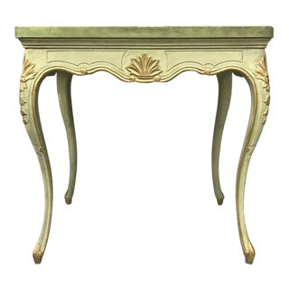 Green Painted and Parcel Gilt Louis XV Style Table