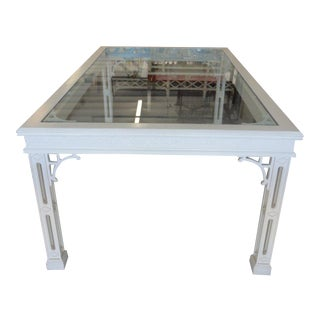 Palm Beach Fretwork Dining Table For Sale