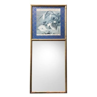 Chinoiserie Foboix Bamboo Mirror For Sale