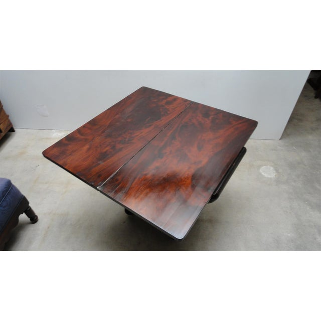 Antique Ebonized Empire Game Table and Console For Sale - Image 9 of 11