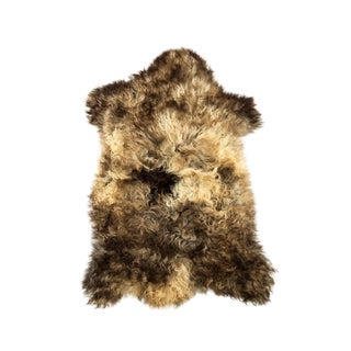 "Handmade Wool Sheepskin Pelt Rug - 2'0""x3'1"" For Sale"