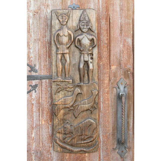 Nagaland Tribal Carved Panel For Sale - Image 4 of 10
