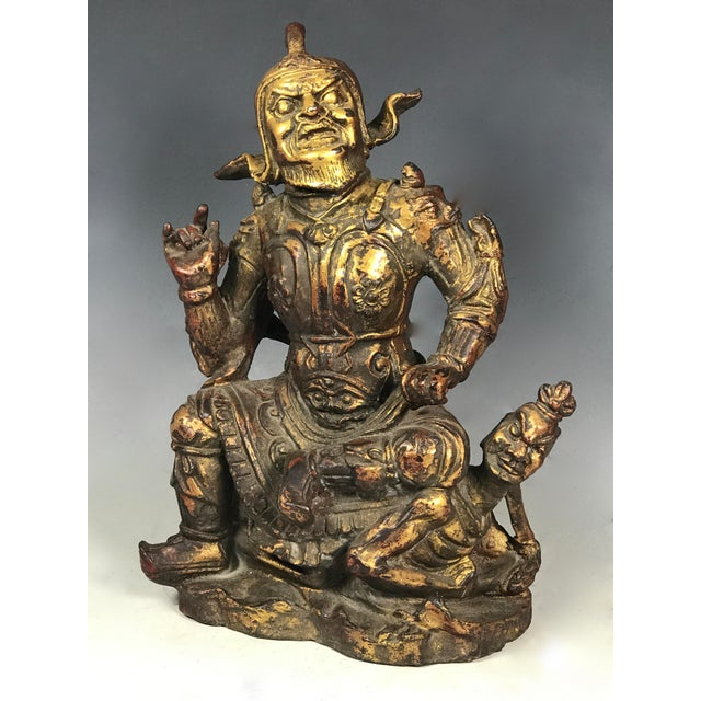 Chinese Art Carved Bronze Warrior For Sale - Image 4 of 11