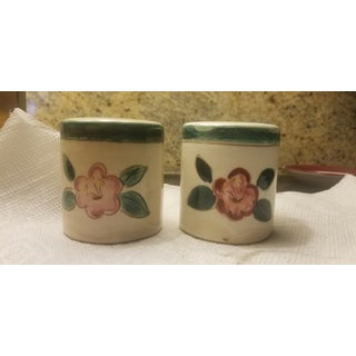 Early Mid Century Stangl Flowers Salt and Pepper Shakers - a Pair Preview