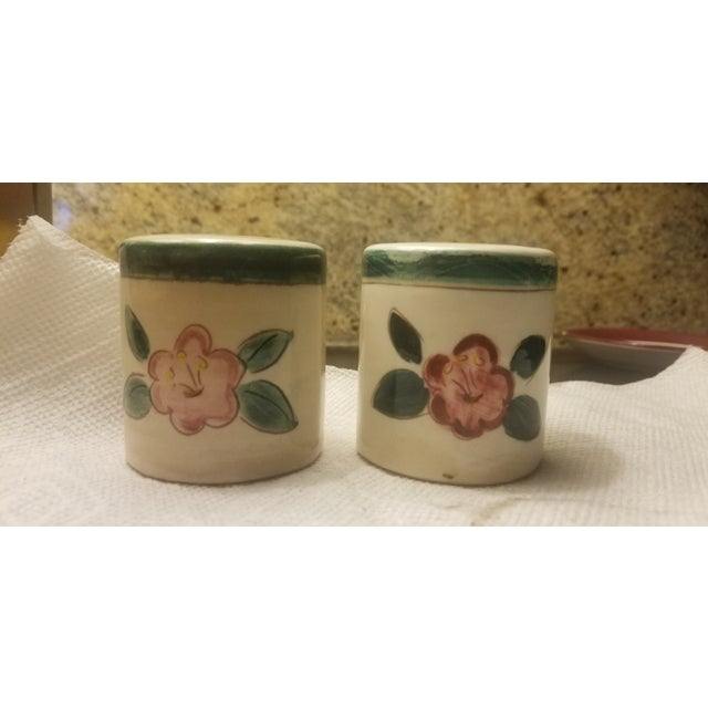 No bids accepted on items priced under $50. Really. Stangl flower pattern 1930s Art Deco style ample salt and pepper...