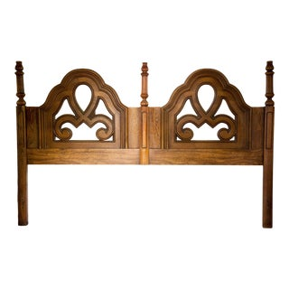 1970s Gothic Revival King Headboard For Sale