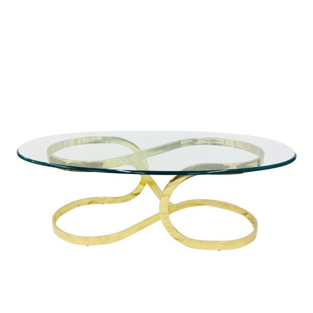 "Vtg Modern Milo Baughman ""Ribbon Candy"" Coffee Table For Sale"