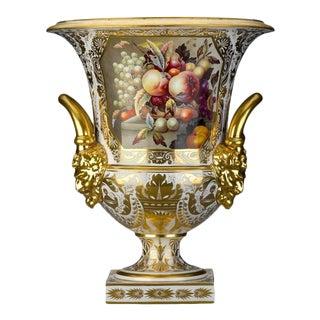 Derby Porcelain Campana Vase For Sale