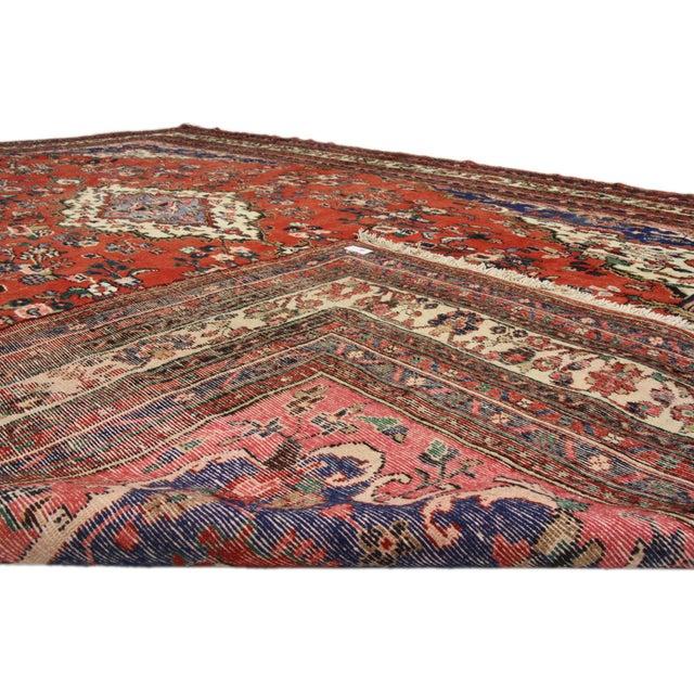 Vintage Kabudarahang Hamadan Persian Palace Rug - 10′6″ × 17′2″ For Sale - Image 4 of 8