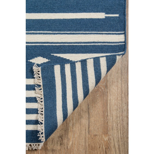2010s Erin Gates by Momeni Thompson Billings Denim Hand Woven Wool Area Rug - 7′6″ × 9′6″ For Sale - Image 5 of 6