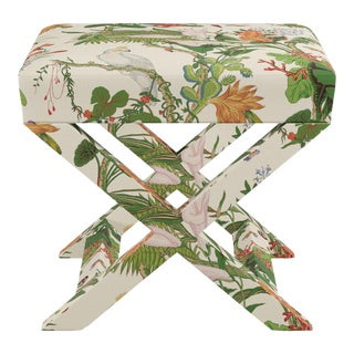 X Bench In White Cinque Terra By Old World Weavers For Sale
