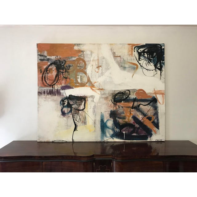 Fine Abstract Oil Painting on Canvas by Franchy For Sale - Image 13 of 13