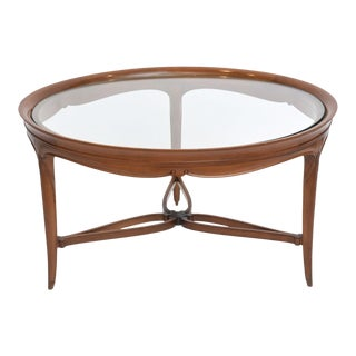 Fine French Art Deco Mahogany and Glass Low Table, Paul Follot For Sale