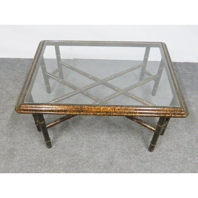 Mid-Century Modern John Widdicomb Faux Bamboo Coffee Table For Sale - Image 3 of 7