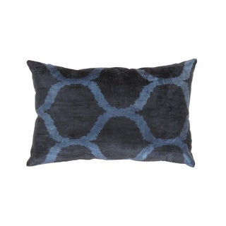 Turkish Silk Velvet Ikat Pillow For Sale