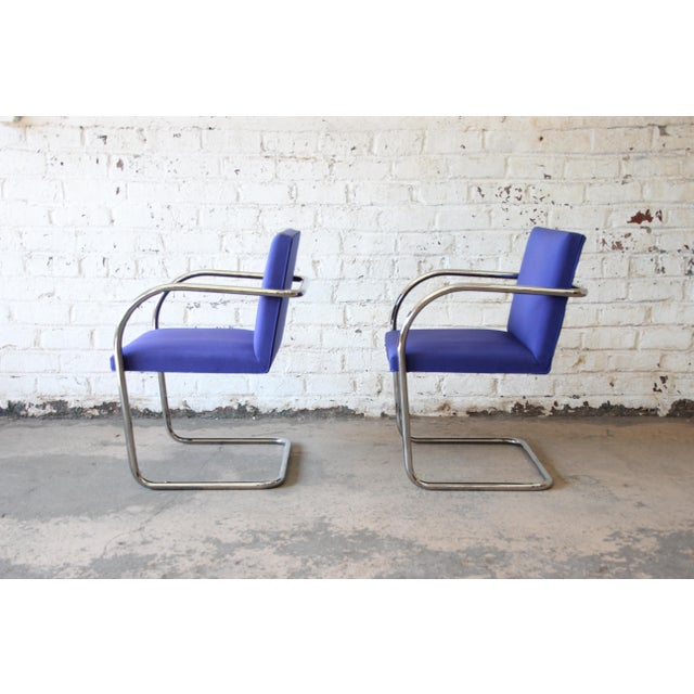 Bauhaus Mies Van Der Rohe for Knoll International Brno Chairs - a Pair For Sale - Image 3 of 11