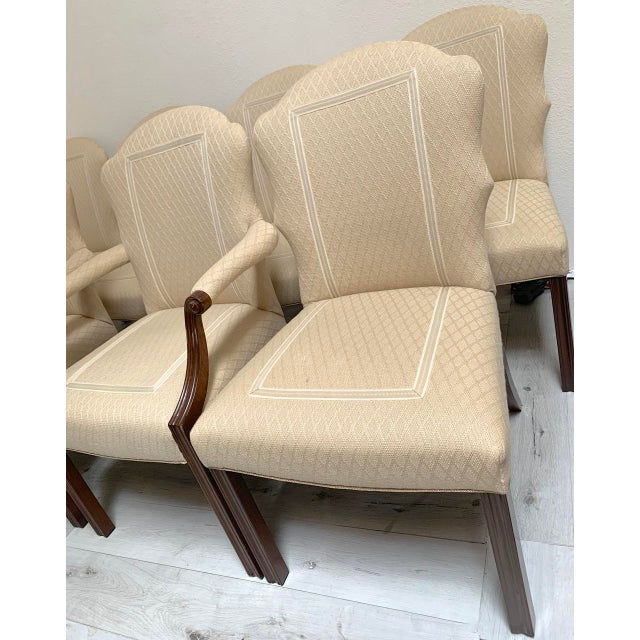 Traditional Squires Co. Custom Dining Chairs With Handles-Set of 8 For Sale - Image 3 of 10