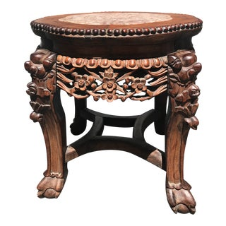 19th Chinese Export Rosewood Round Side Table For Sale