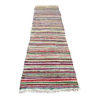 Vintage Striped Turkish Kilim Rug For Sale