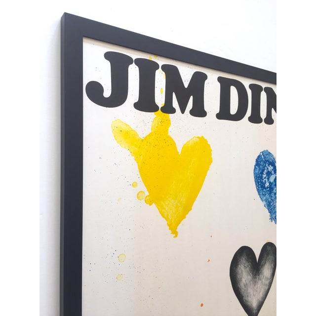 Jim Dine Jim Dine Rare Vintage 1970 Framed Silkscreen Print Whitney Museum Collector's Pop Art Exhibition Poster For Sale - Image 4 of 13