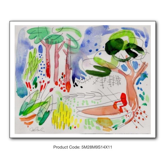 """Abstract Garden Set of Four Giclee Prints, 14x11"""" For Sale - Image 3 of 6"""