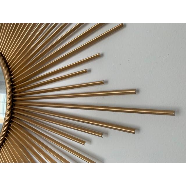 Mid-Century Modern Sunburst Convex Mirror For Sale In New York - Image 6 of 7