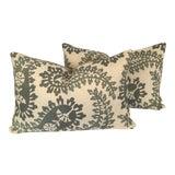 Image of Paisley Lumbar Pillows - A Pair For Sale