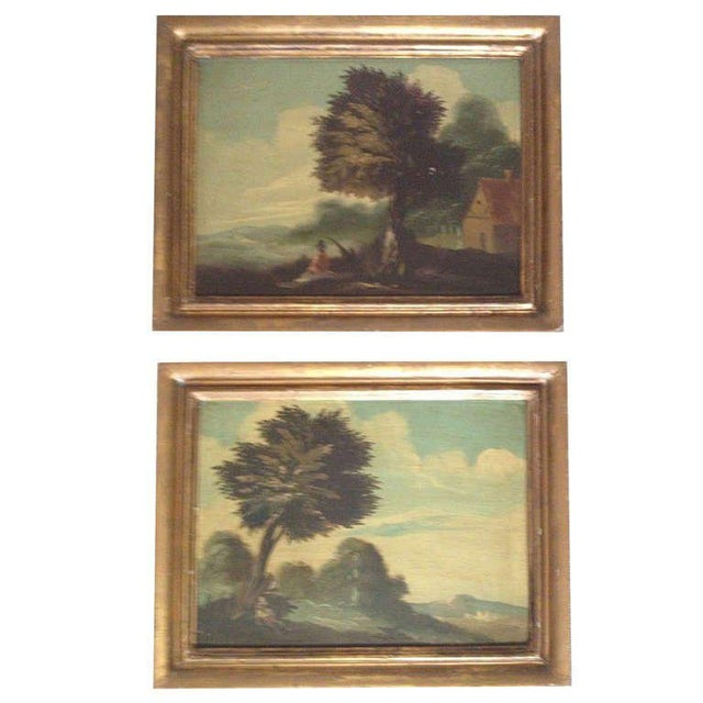 Pair of 19th Century Italian Landscapes For Sale - Image 9 of 9