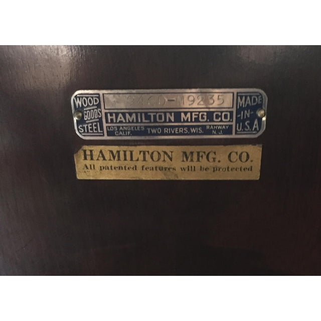 Metal 1930s Hamilton Mfg Physicians Exam Cabinet Table For Sale - Image 7 of 11