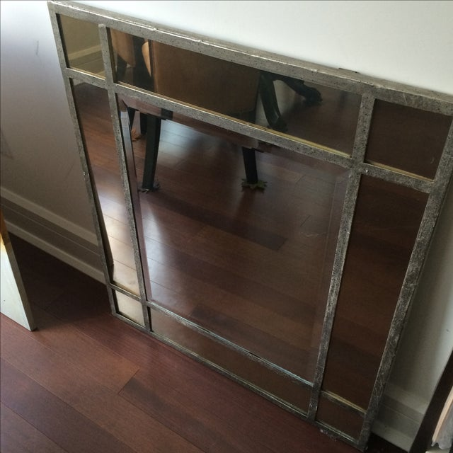 Antique Finish Silver Mirror - Image 3 of 9