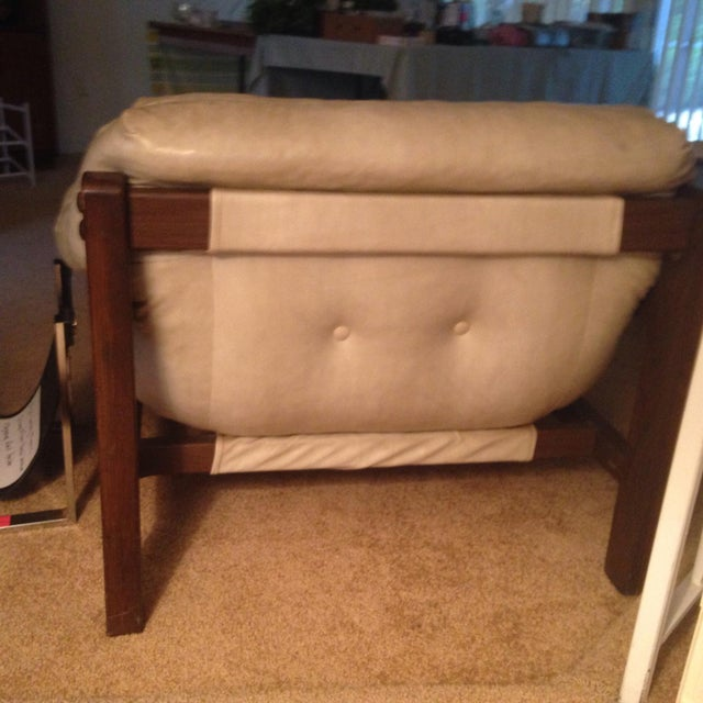Mid-Century Sling Chairs & Ottoman - Set of 3 - Image 4 of 5