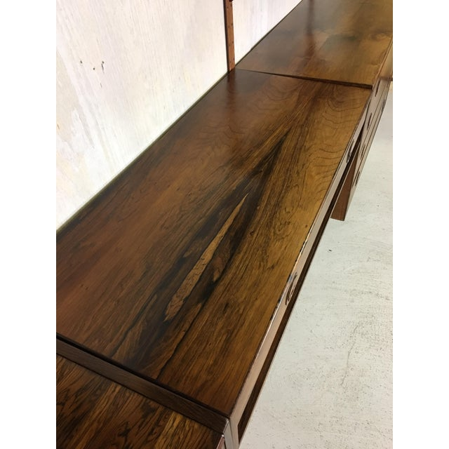 HG Danish Rosewood Wall Mounted Unit by Rud Thygesen and Johnny Sorenson For Sale - Image 5 of 13