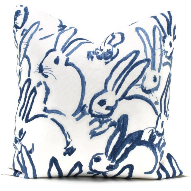Lee Jofa Groundworks Hutch Blue Bunny Pillow - Image 2 of 6