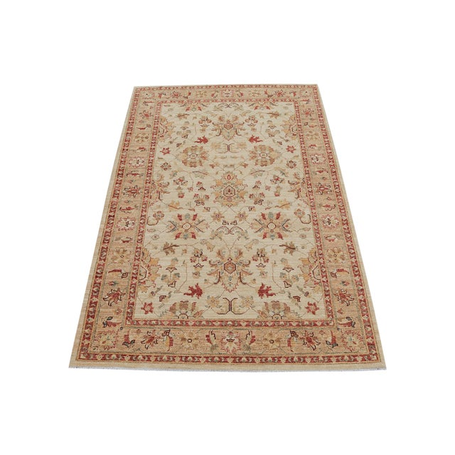 Traditional Pakistani Hand-Knotted Wool Rug - 4′ × 6′ - Image 1 of 4