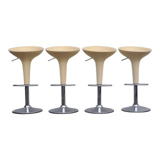 1990s Vintage Magis Bombo Peach Bar Stools by Stefano Giovannoni- Set of 4 For Sale