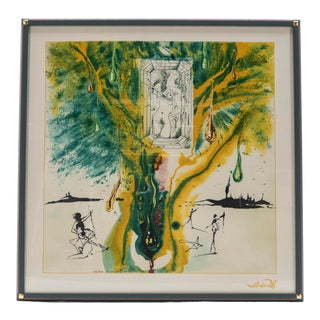 The Emerald of the Tablet Salvador Dali Silk Serigraphy 1989 - Edition of 2000 For Sale