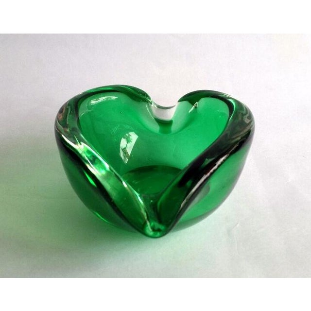 Vintage Murano Curled Leaf Dish For Sale - Image 11 of 11