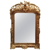 Image of Louis XV Style Giltwood Overmantel Mirror, Early 19th Century For Sale