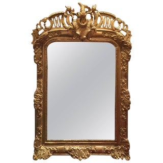 Louis XV Style Giltwood Overmantel Mirror, Early 19th Century For Sale