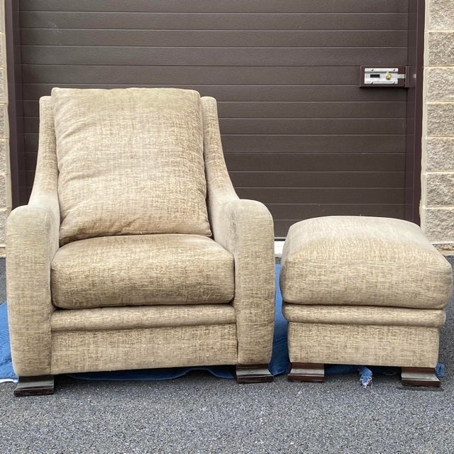 Early 21st Century RJones Lounge Chair & Ottoman For Sale - Image 5 of 13