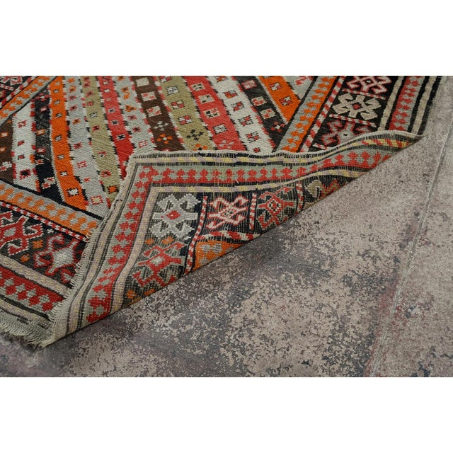 Antique Kurdistan Hand Made Tribal Rug - 4' X 7' For Sale - Image 10 of 10