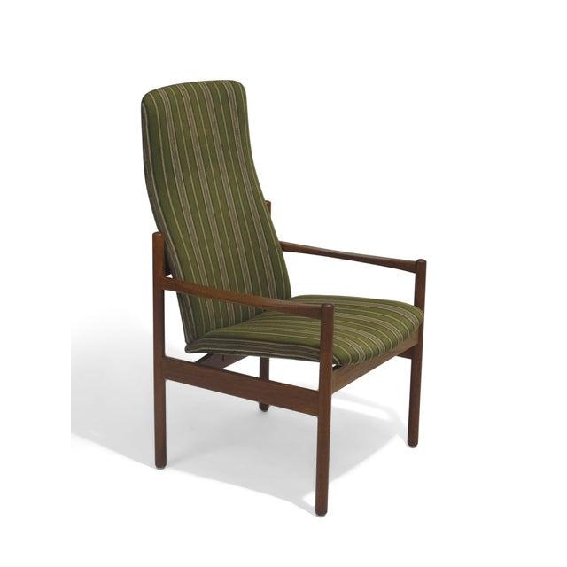 Mid-Century Danish Teak High-Back Lounge Chair - Image 3 of 9