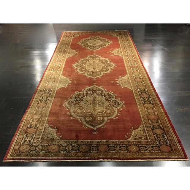 "Vintage Sivas Turkish Rug - 5'4""x14'5"" - Image 2 of 8"