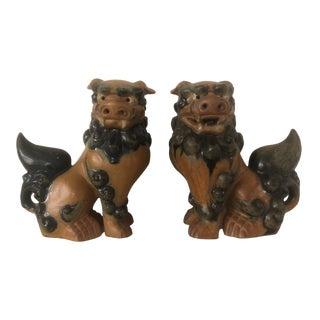 Vintage Foo Dog Figurines - a Pair For Sale