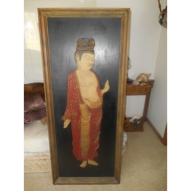 Vintage Oriental 3D Handcarved Wood Wall Sculpture - Image 2 of 6