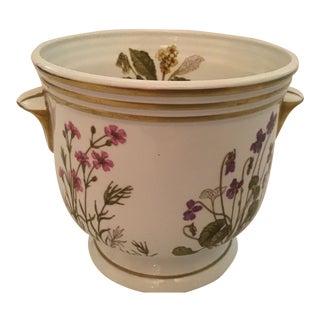 1970s Vintage English Porcelain Footed Cachepot For Sale