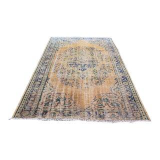 "Traditional Handmade Floral Turkish Carpet - 5'9"" x 8'4"""