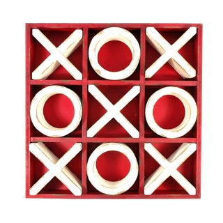 Rustic Wood Tic Tac Toe Game For Sale