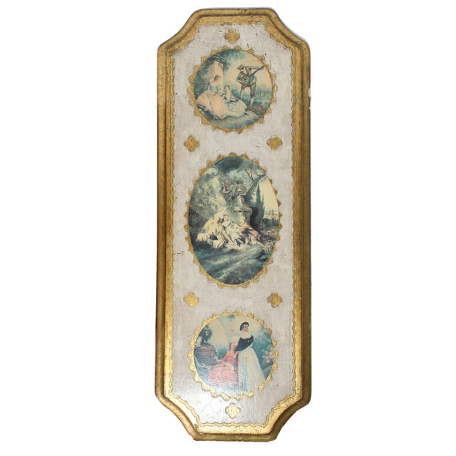 1950s Florentine Gilt Wood Wall Art Collection, Set of 7 For Sale - Image 5 of 13