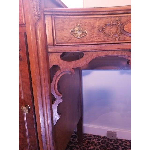 Williamsport Walnut Burl & Mahogany Vanity Table - Image 9 of 11
